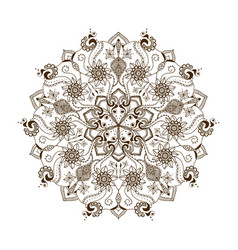 floral mandala in indian style vector image