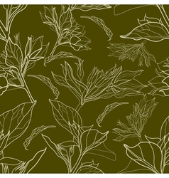 floral vintage pattern vector image