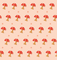 Fungus pattern background vector