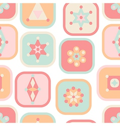 Geometric abstract squares seamless pattern vector image