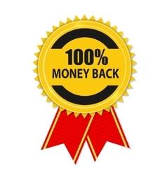 Gold Label 100 Money back vector image