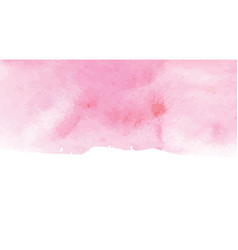 Hand painted art of watercolor paint on watercolor vector