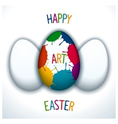 Happy art easter vector
