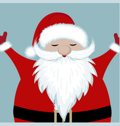 happy santa vector image