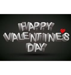 Happy valentines day phrase vector