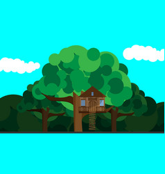 House on a tree vector
