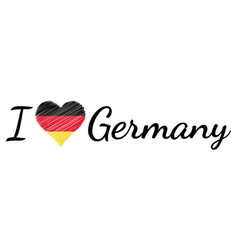 i love country germany heart doodle vector image