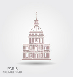 image house invalides in paris flat vector image