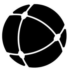 Internet sphere flat icon vector