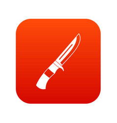 knife icon digital red vector image
