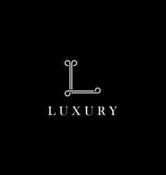 letter l logo design concept vector image