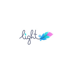 light logo lettering with image gradient vector image