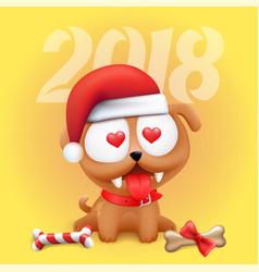 Little dog puppy 2018 symbol vector
