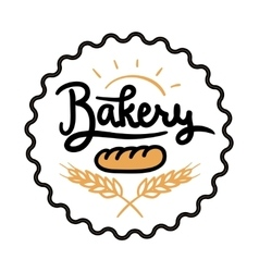 Logo or label for bakery and bread shop vector image