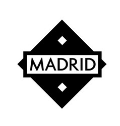 Madrid stamp on white vector
