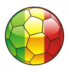 mali flag on soccer ball vector image
