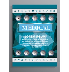 Medical brochure design vector
