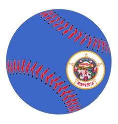 Minnesota flag baseball vector
