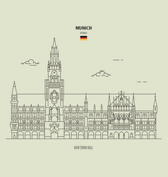 new town hall in munich vector image