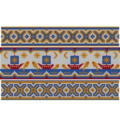 Old ethnic ornament vector image
