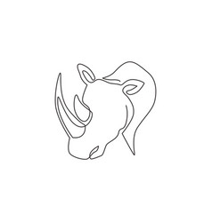 one continuous line drawing strong white vector image