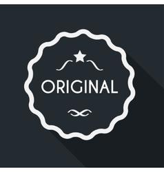 Original label with long shadow vector image