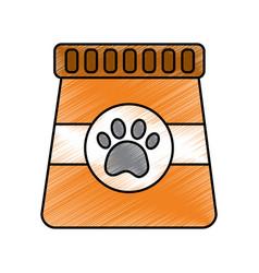 Package food pet animal nutrition vector