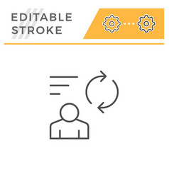 person feedback editable stroke line icon vector image