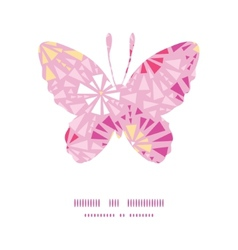 Pink abstract triangles butterfly silhouette vector