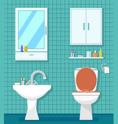 Plumbing icons for bathroom vector