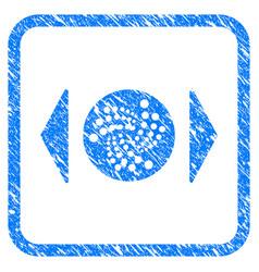 Regulate iota framed stamp vector