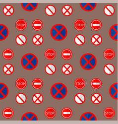 Road signs traffic seamless pattern graphic vector