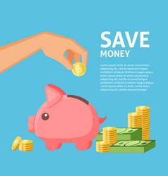 save money social media banner template vector image