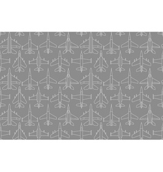 seamless pattern with military airplanes 01 vector image