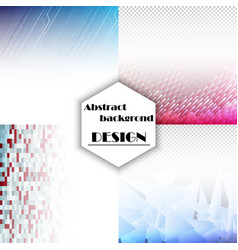 set of abstract background with geometric elements vector image