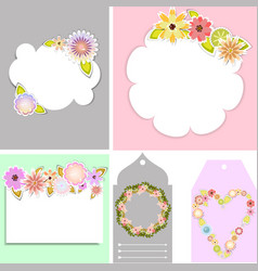 set of beautiful templates for tags and cards vector image