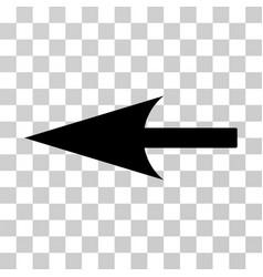 sharp left arrow icon vector image