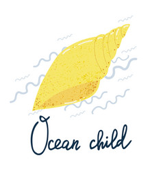 shell ocean child poster vector image
