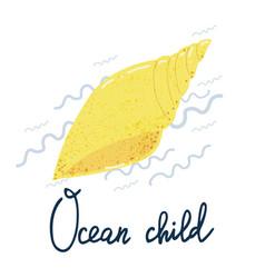 Shell ocean child poster vector