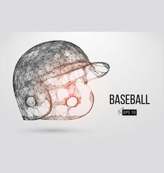 silhouette of a baseball helmet vector image