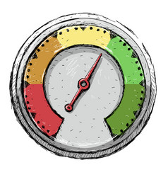 speedometer poor fair good excellent - rating vector image
