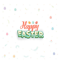 Spring - easter is a beautiful badge like a vector