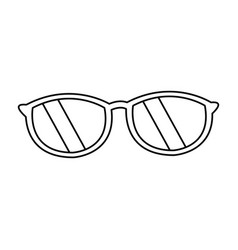 Sunglasses accessory fashion travel design style vector