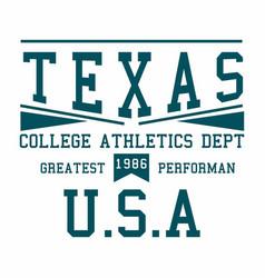 texas college athletics vector image