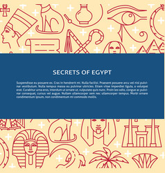 thin line style background with egypt symbols and vector image
