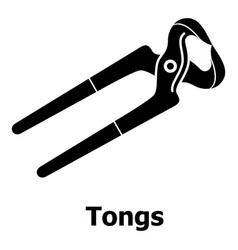 Tongs icon simple black style vector