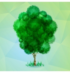 Triangle green tree vector image