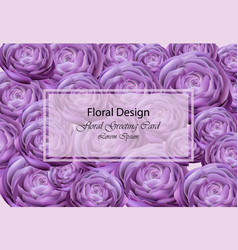 ultra violet peony flowers card beautiful vector image