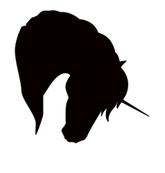 unicorn silhouette - icon vector image