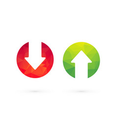 up down arrows red green vector image